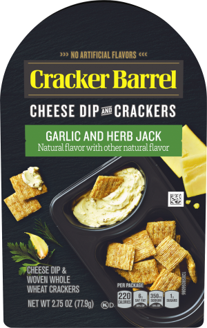 Garlic and Herb Jack Cheese Dip & Crackers