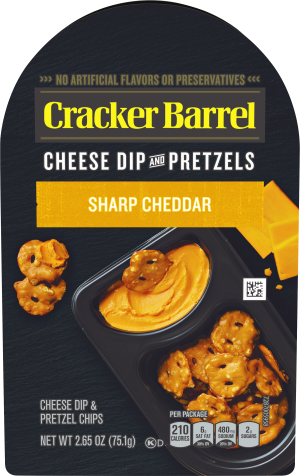 Sharp Cheddar Cheese Dip & Pretzels