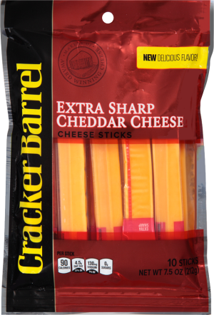 Extra Sharp Yellow Cheddar Cheese Sticks