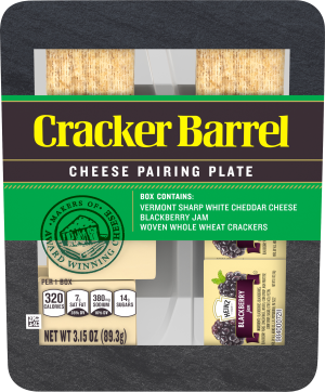 Vermont Sharp White Cheddar, Woven Whole Wheat Crackers & Blackberry Jam