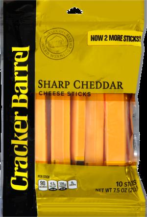 Sharp Yellow Cheddar Cheese Sticks