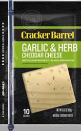 Garlic and Herb Cheddar Slics