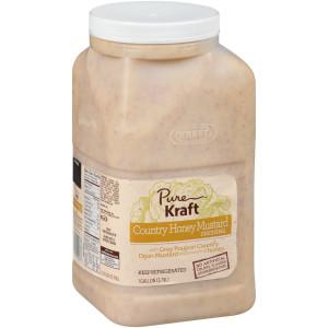 KRAFT Pure Country Honey Mustard Dressing, 1 gal. Jug (Pack of 4) image
