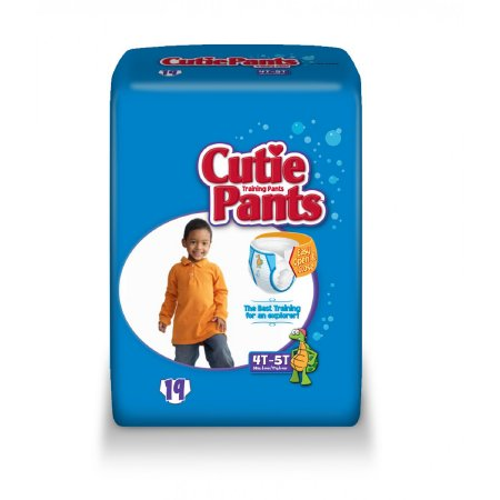 Cutie Pants Toddler Training Pants Pull On 4T to 5T Disposable Heavy Absorbency, CR9007 - Case of 76