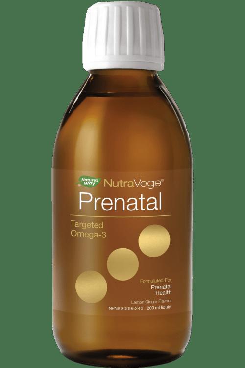 NutraVege Prenatal Targeted Omega-3, Lemon Ginger