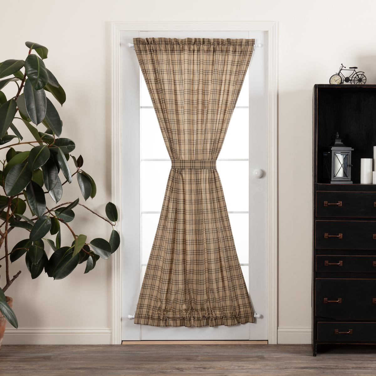 Sawyer Mill Charcoal Plaid Door Panel 72x40