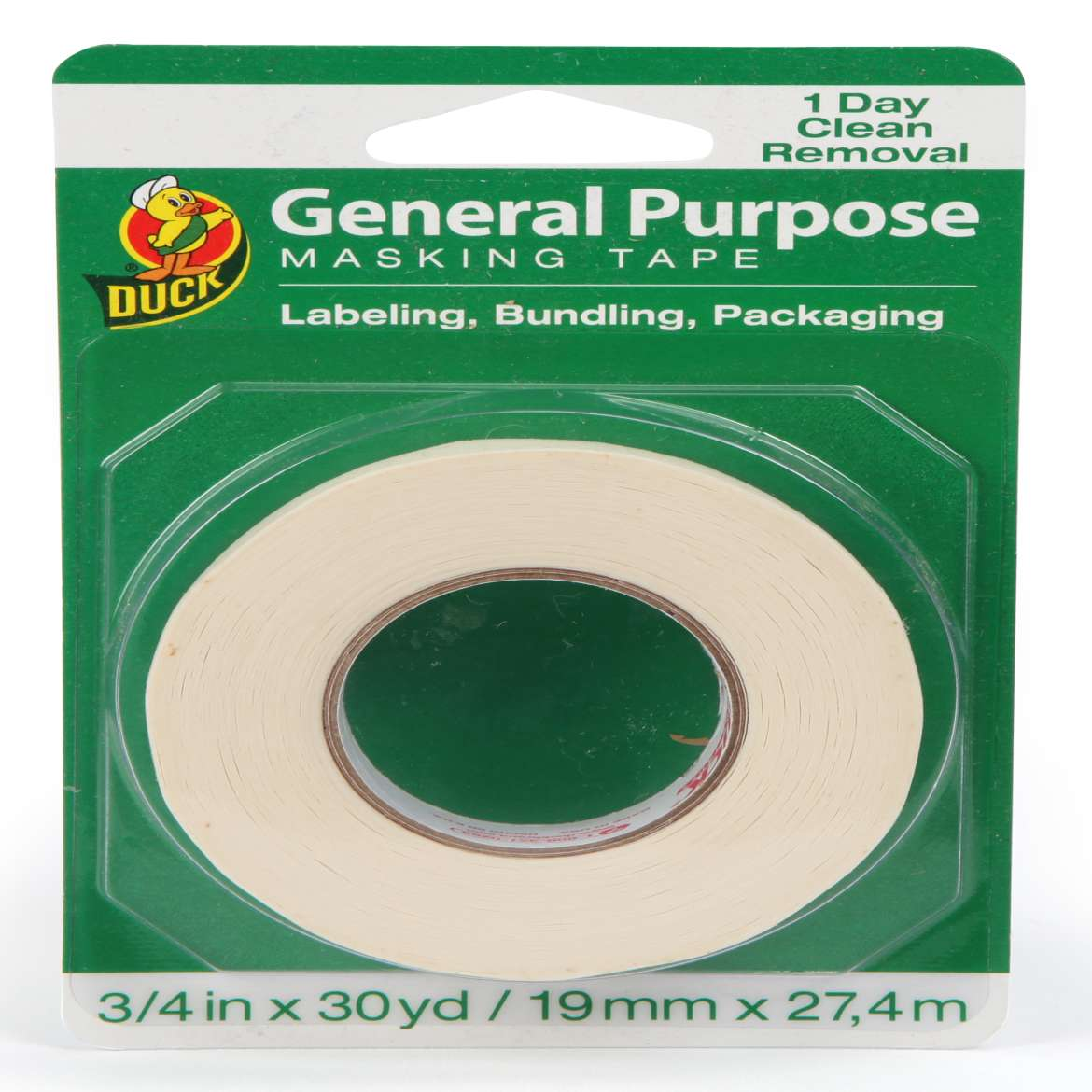 Duck® Brand General Purpose Masking Tape - Beige, .75 in. x 30 yd. Image
