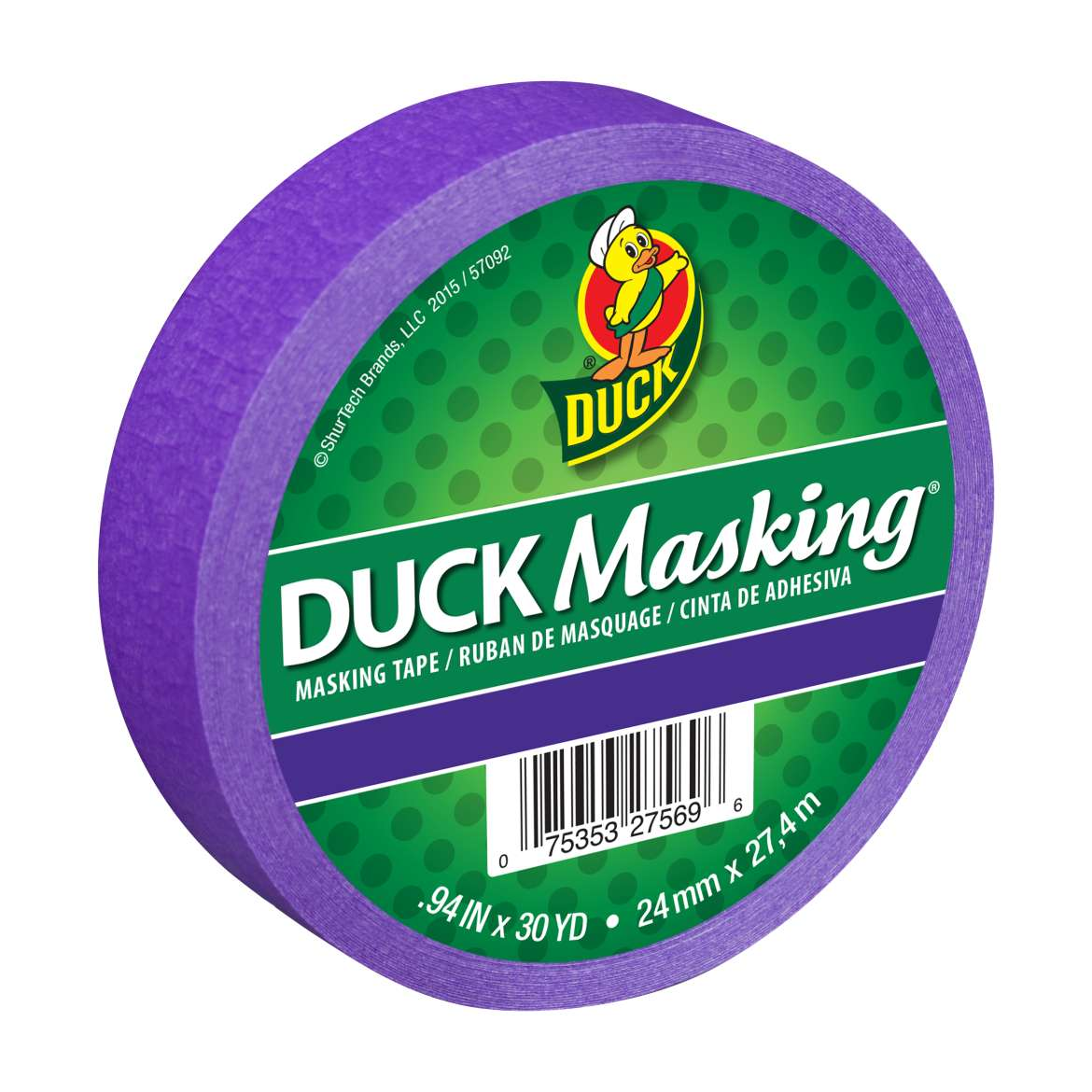Duck Masking® Color Masking Tape - Purple, .94 in. x 30 yd. Image