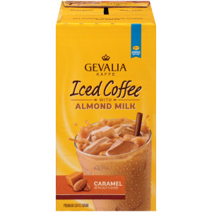 Gevalia Iced Coffee with Almond Milk - Caramel, 11.1 oz. image