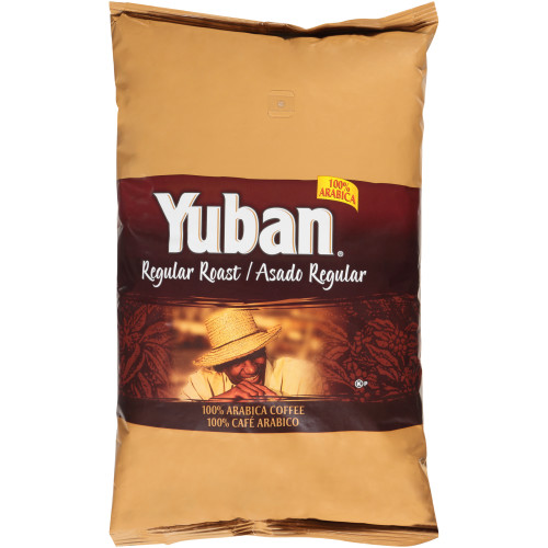 YUBAN Regular Roast Whole Coffee Beans, 4 lb. Bag (Pack of 6)