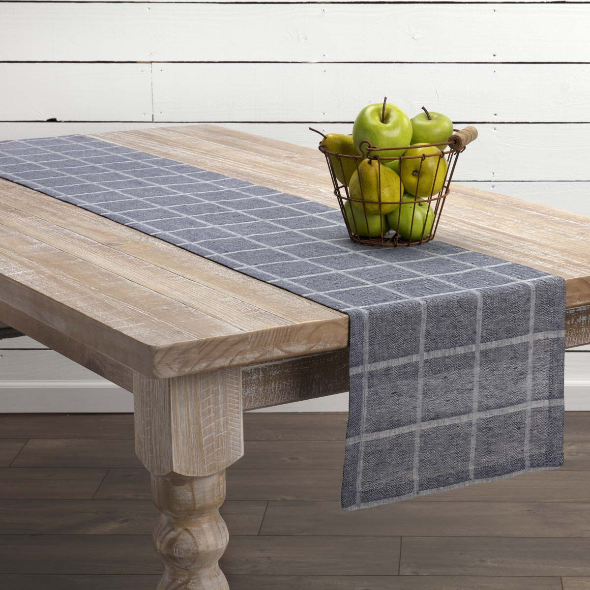 VHC Farmhouse Table Runner Julie Tabletop Kitchen Textured Cotton Linen 4 Colors