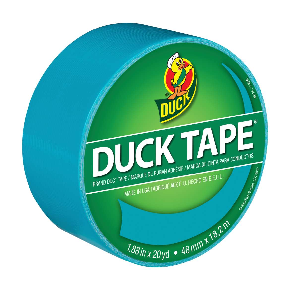 Color Duck Tape® Brand Duct Tape - Aqua, 1.88 in. x 20 yd. Image
