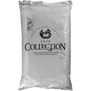 CAFÉ COLLECTIONS Dark French Roast Whole Bean Coffee, 4 lb. Bag (Pack of 2) image