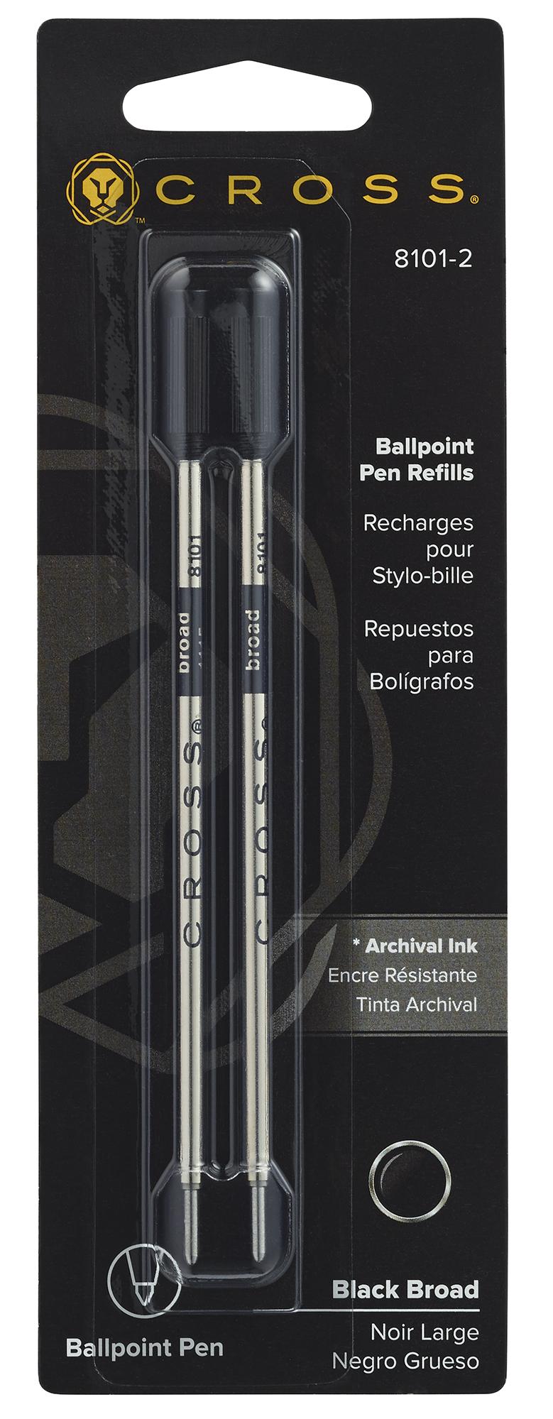 Ballpoint Pen Refill - Black - Broad - Dual Pack
