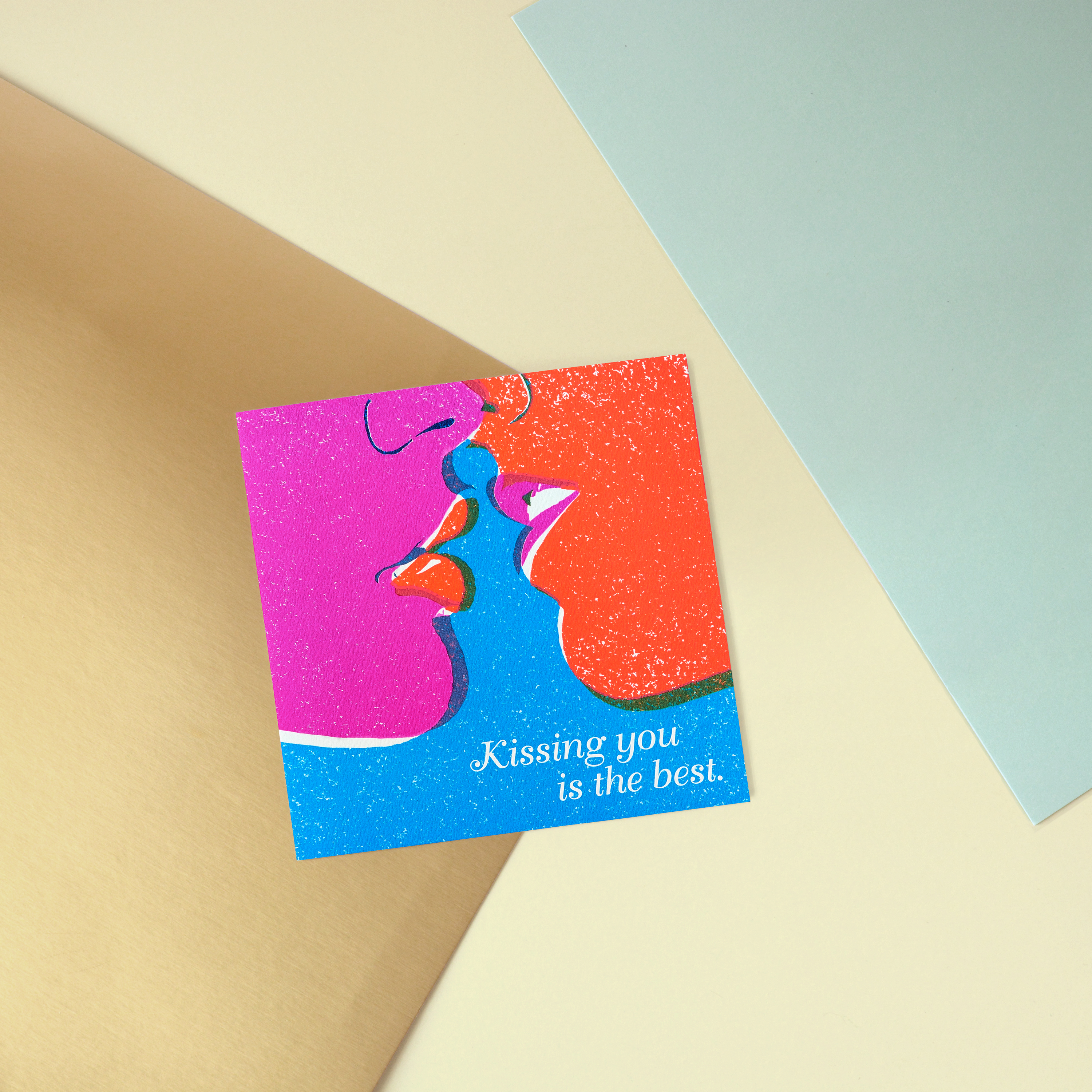 Kissing You Greeting Card - Romantic, Anniversary, Thinking of You image
