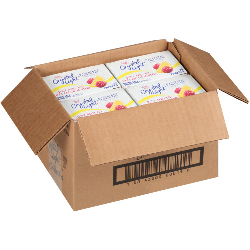CRYSTAL LIGHT Single Serve Sugar-Free Raspberry Lemonade On-the-Go Powdered Mix, 30- 0.1 oz. Packets (Pack of 4 Boxes)