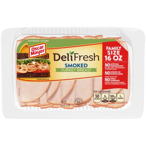 Oscar Mayer Deli Fresh Smoked Turkey Breast Tray, 16 oz