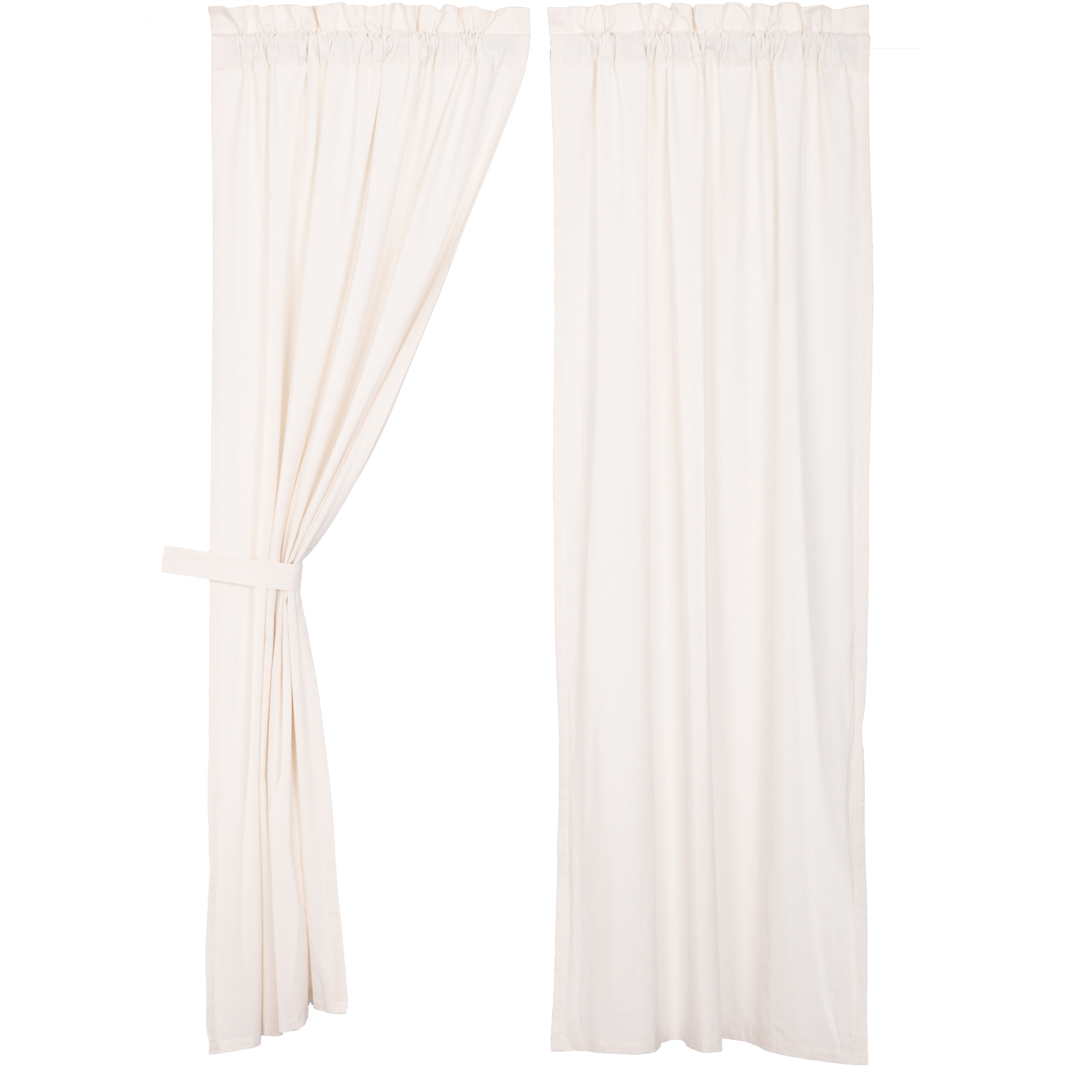 Simple Life Flax Antique White Panel Set of 2 84x40