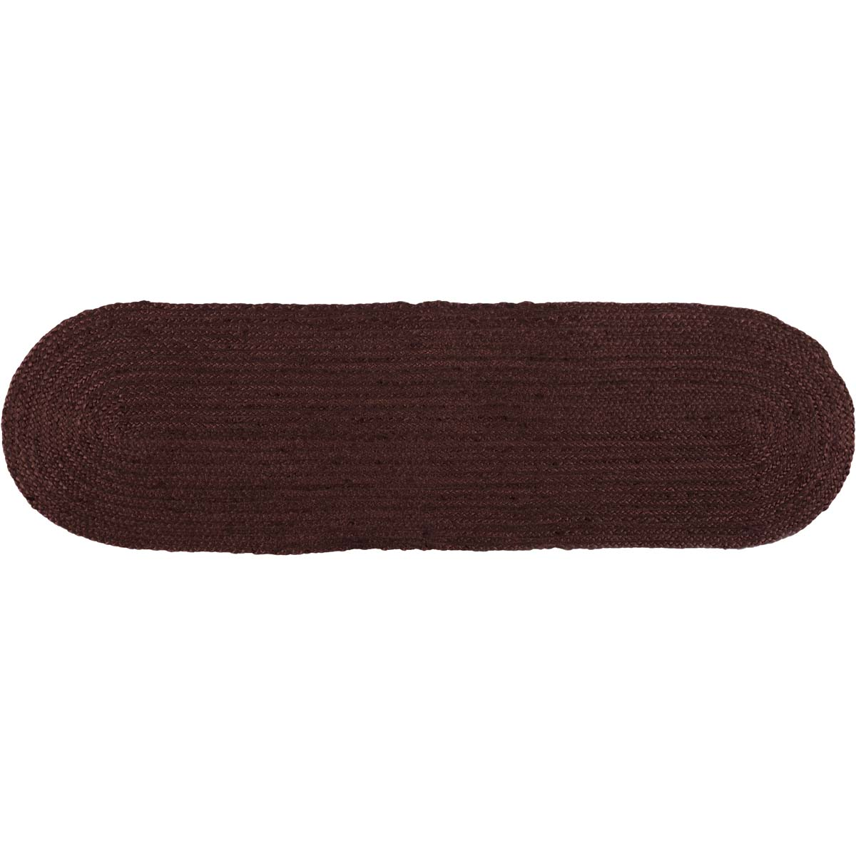 Burgundy Jute Runner Oval 13x48