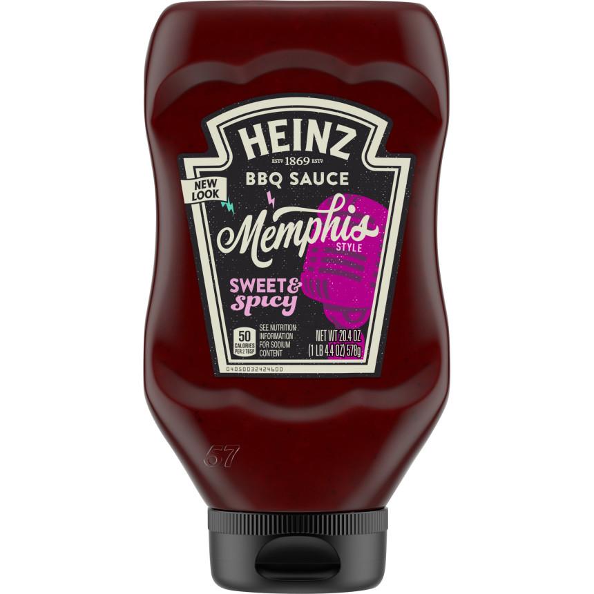 Heinz Memphis Style Sweet & Spicy BBQ Sauce, 20.4 oz Bottle image