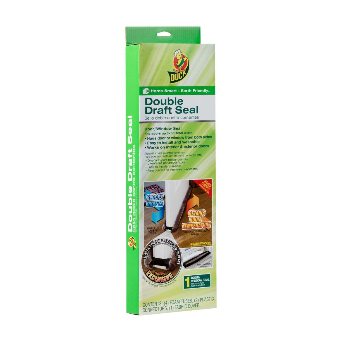 Duck® Brand Double Draft Seal - Brown, Fits up to 34 in. wide Image