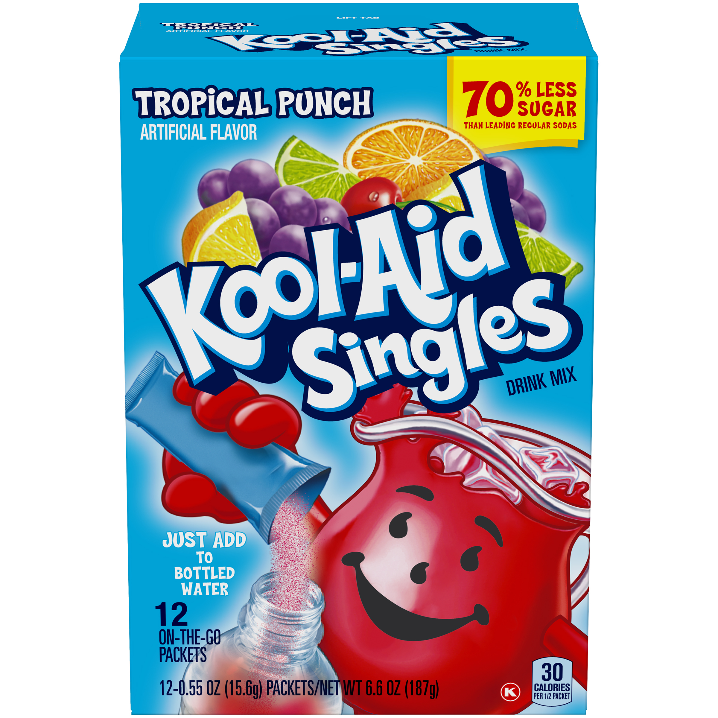 Kool-Aid Singles Tropical Punch 12 Ct Soft Drink Mix 6.6 Oz Box image