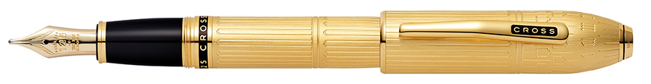 Peerless Special-Edition London 23KT Gold Plate Fountain Pen