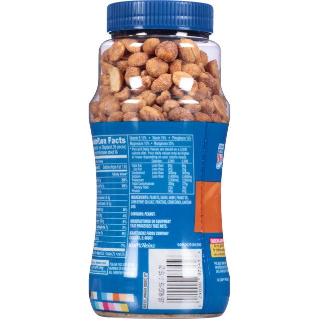 PLANTERS Honey Roasted Dry Roasted Peanuts 16 oz Jar