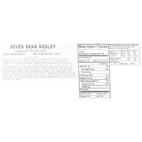 HEINZ CHEF FRANCISCO Seven Bean Medley Soup, 4 lb. Tub (Pack of 4)