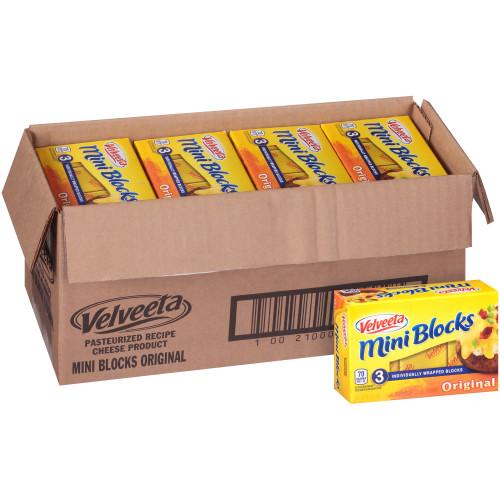 VELVEETA American Cheese Mini Blocks, 12 oz. (Pack of 12)