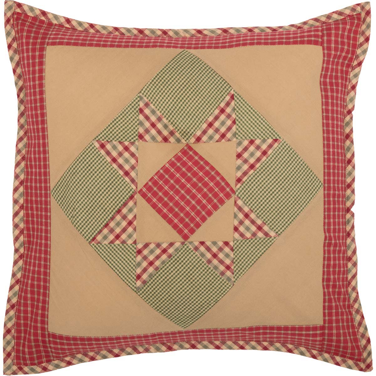 Dolly Star Patchwork Pillow 18x18