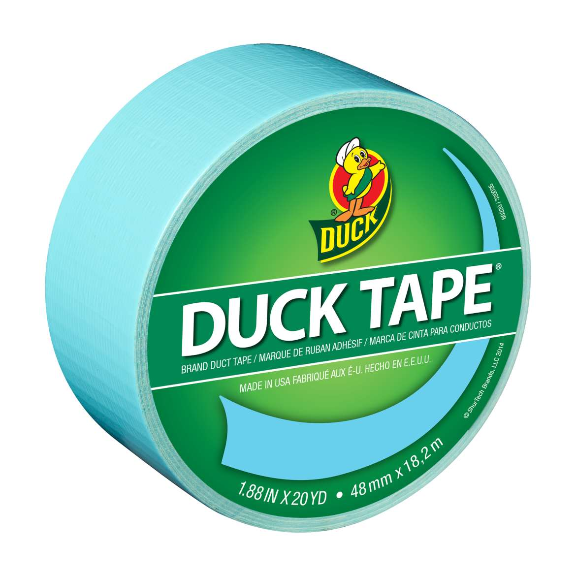 Color Duck Tape® Brand Duct Tape - Icy Blue, 1.88 in. x 20 yd. Image