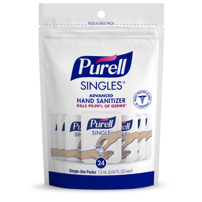 PURELL SINGLES™ Advanced Hand Sanitizer Single-Use Packets