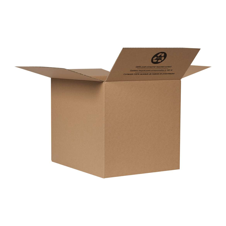 Duck® Brand Kraft Box - Brown, 16 in. x 12.5 in. x 12.5 in. Image