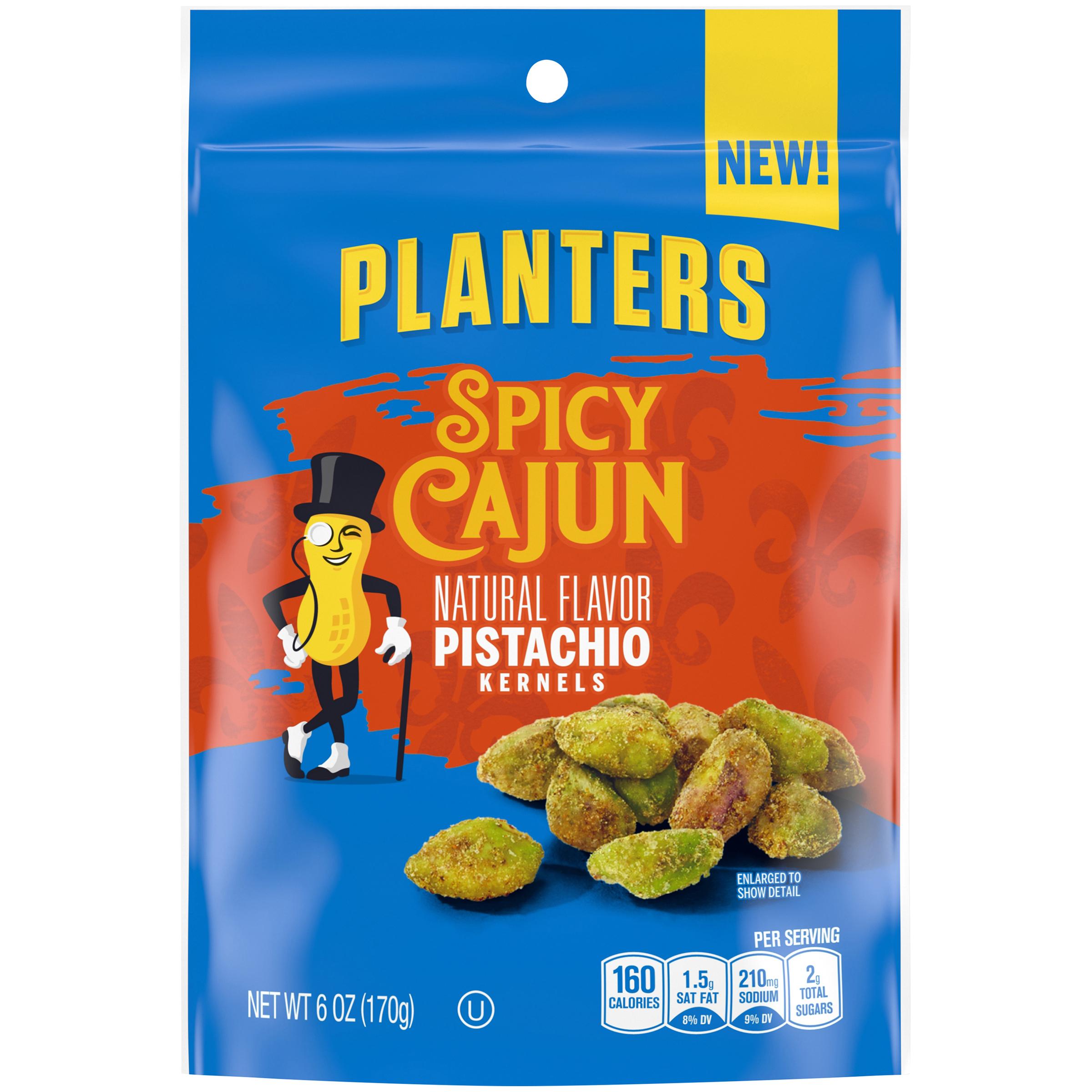 Planters Spicy Cajun Pistachio Kernels, 6 oz Bag image