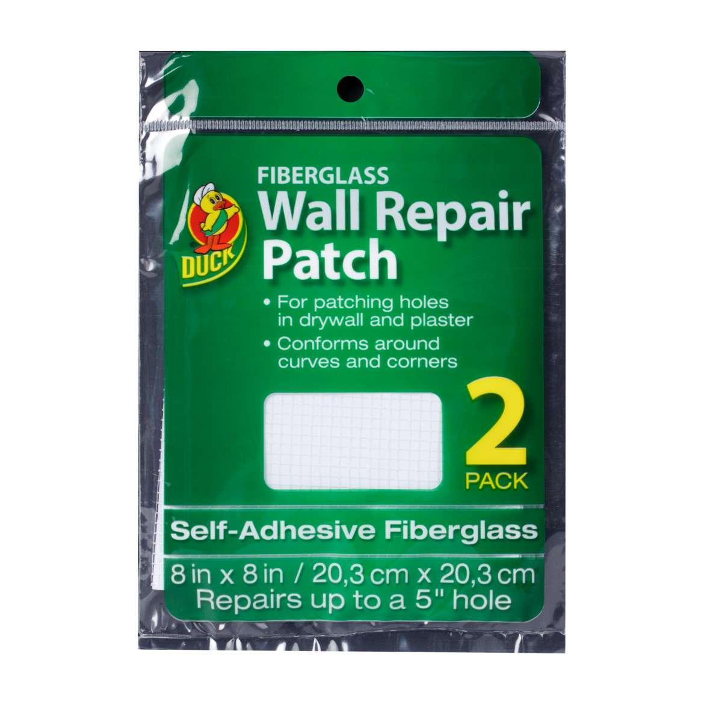 Duck® Brand Fiberglass Wall Repair Patch - White, 2 pk, 8 in. x 8 in. Image