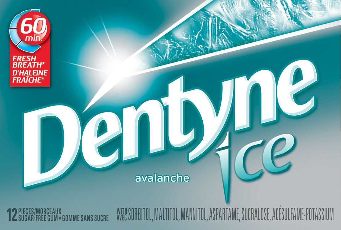 Dentyne Ice Avalanche Mint Gum 12 Count