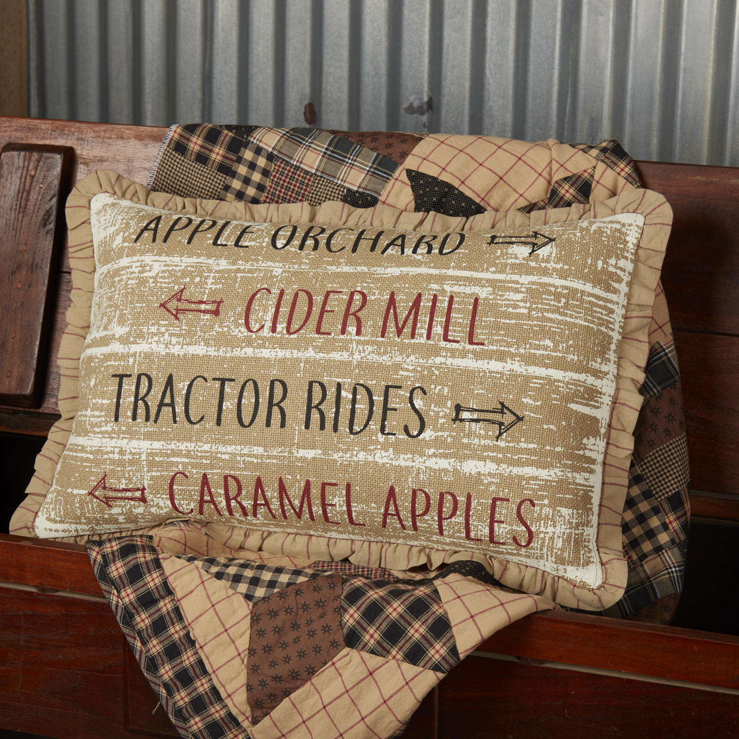 Bingham Star Orchard Sign Pillow 14x22