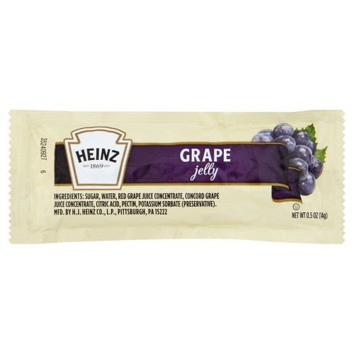 HEINZ Single Serve Grape Jelly, 0.5 oz. Packets (Pack of 200)