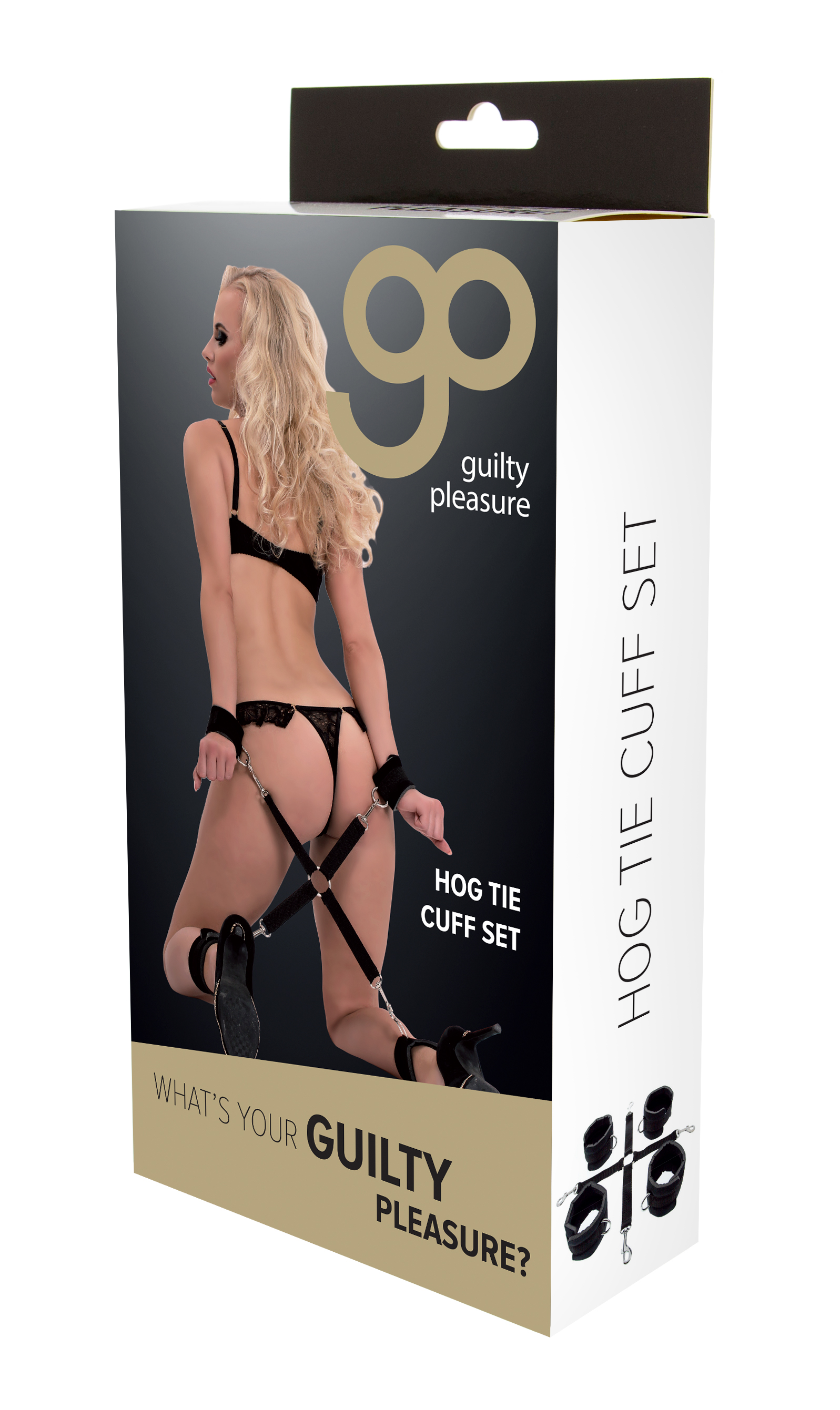 Guilty Pleasure - Hog Tie Cuff Set - Black