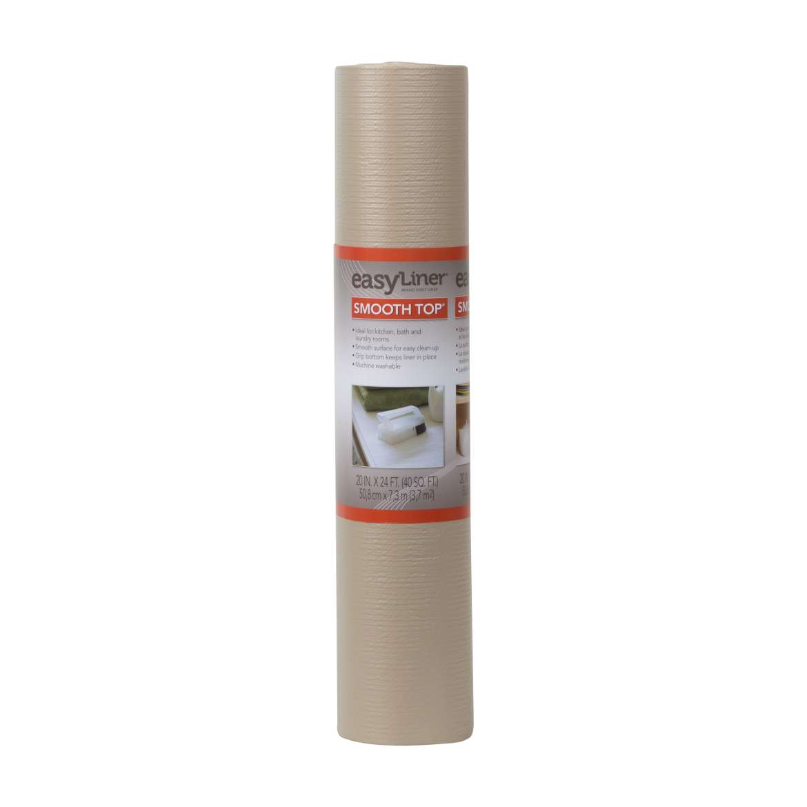Smooth Top® Easy Liner® Brand Shelf Liner - Taupe, 20 in. x 24 ft. Image