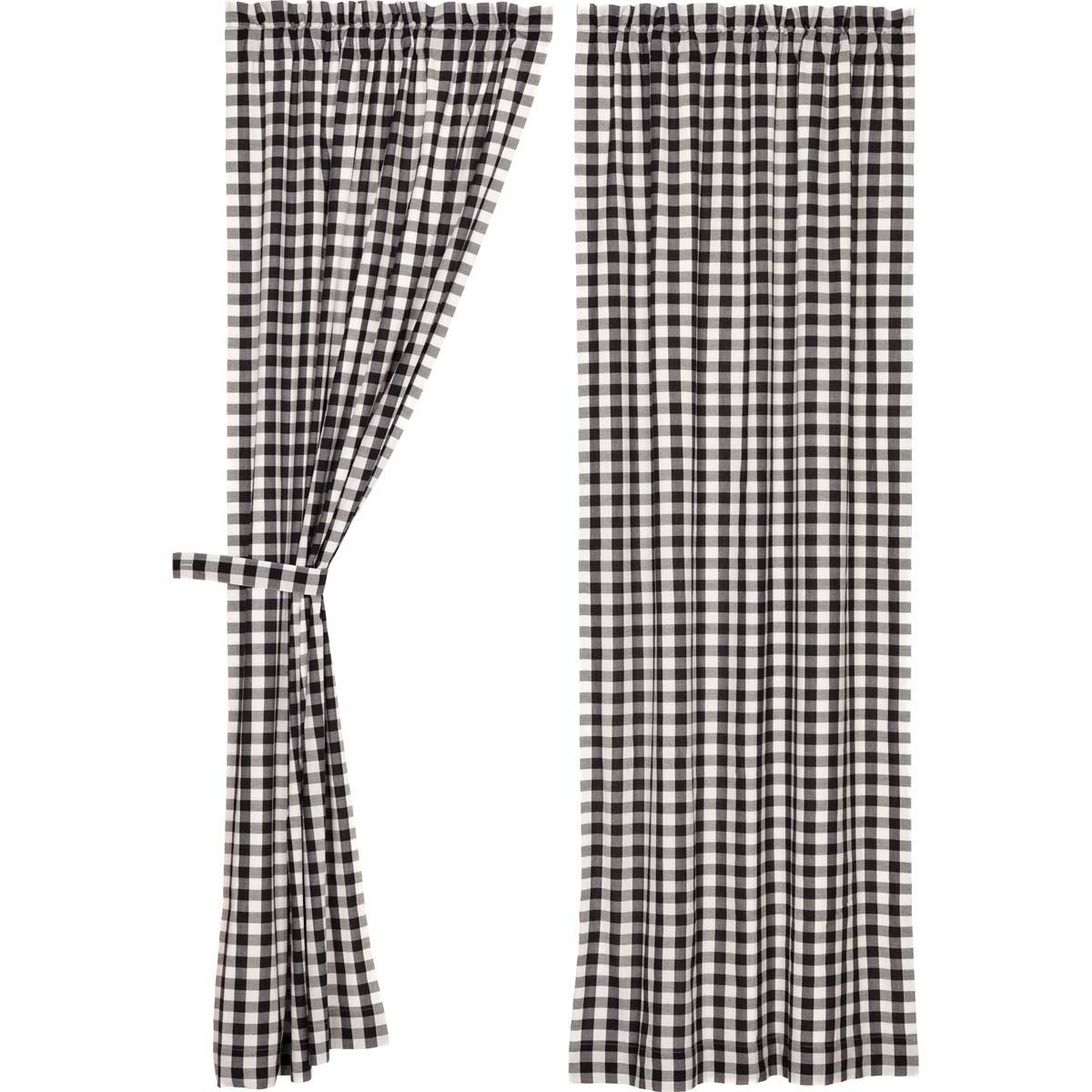 Annie Buffalo Black Check Panel Set of 2 84x40