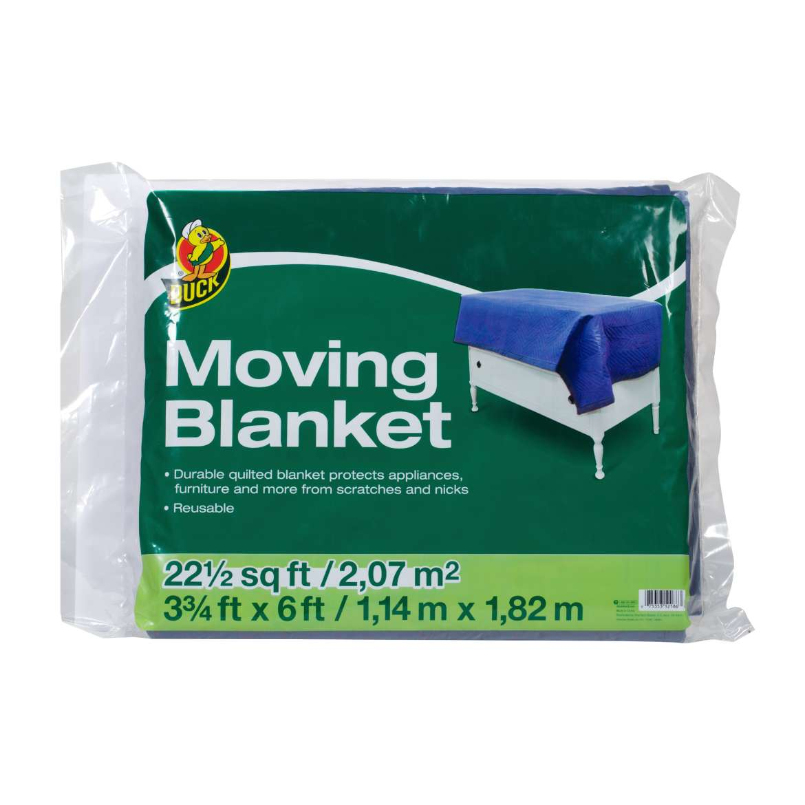 Duck® Brand Moving Blanket - Blue, 3.75 ft. x 6 ft. Image