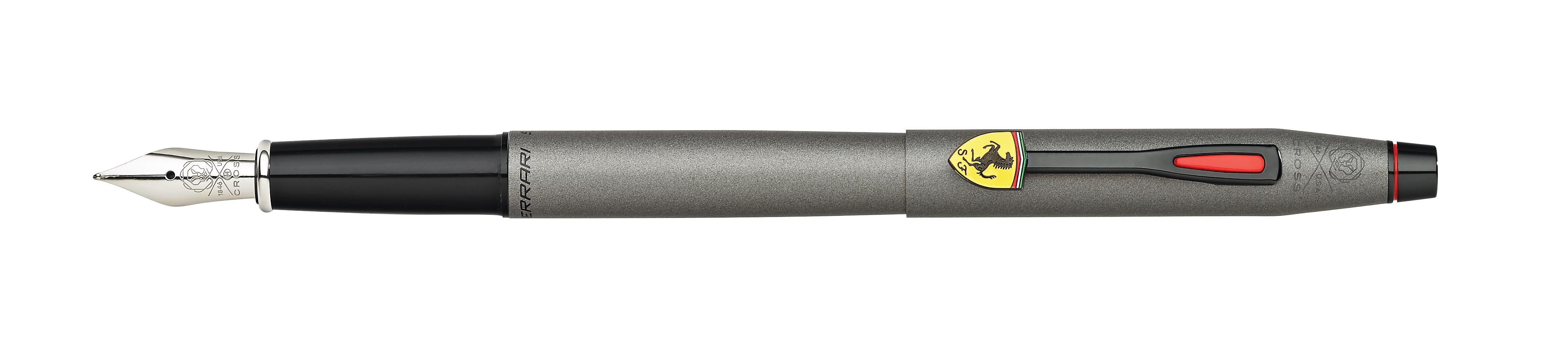 Cross Classic Century Collection for Scuderia Ferrari Titanium Gray Satin Lacquer Fountain Pen