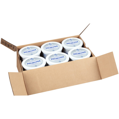 PHILADELPHIA Original Whipped Cream Cheese Spread, 48 oz. Tub (Pack of 6)