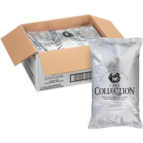 CAFÉ COLLECTIONS Espresso Roast & Ground Coffee, 8 lb. Bag (Pack of 2)