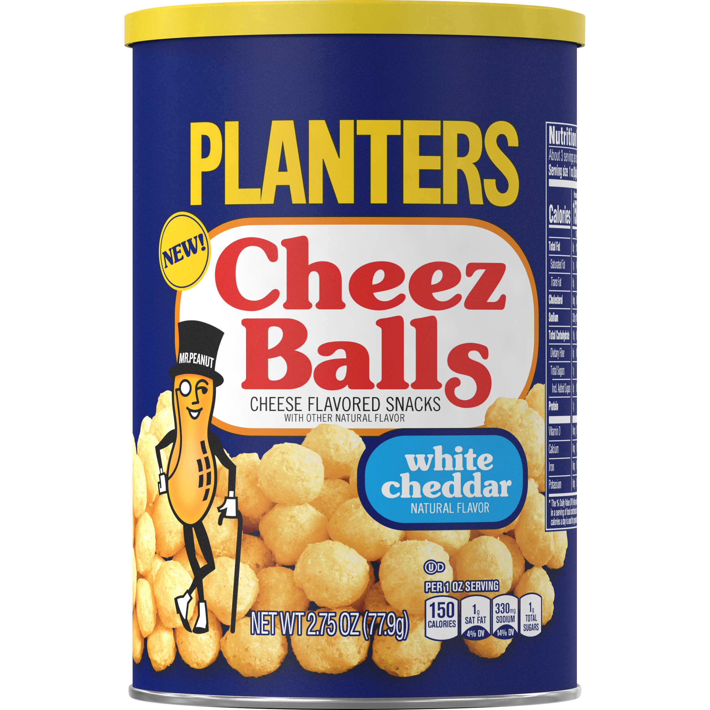 Planters White Cheddar Cheez Balls, 2.75oz Canister image