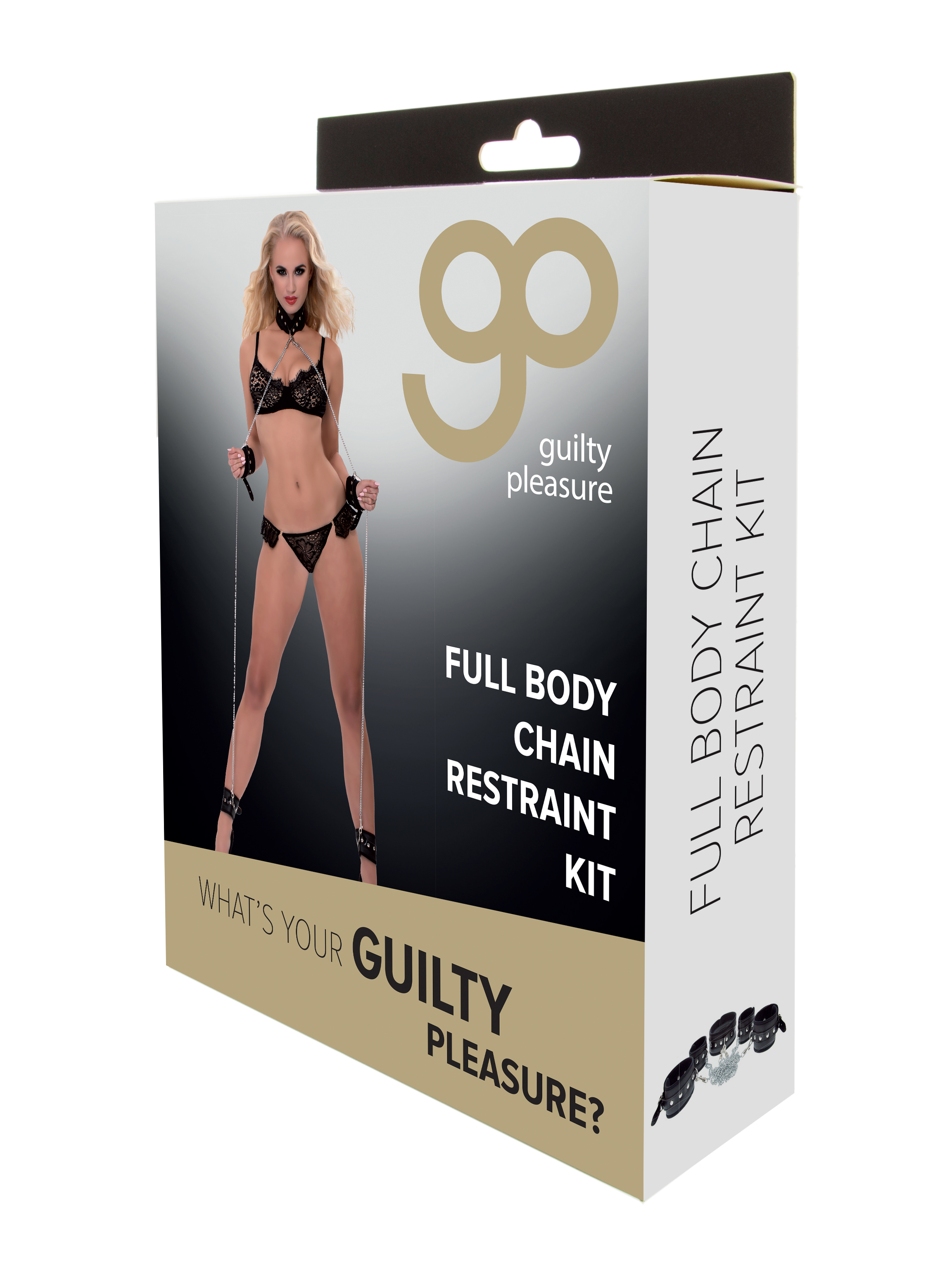 Guilty Pleasure - Full Body Chain Restraint Kit - Black