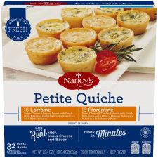 Nancy's Lorraine & Florentine Petite Quiche Variety Pack 32 count Box