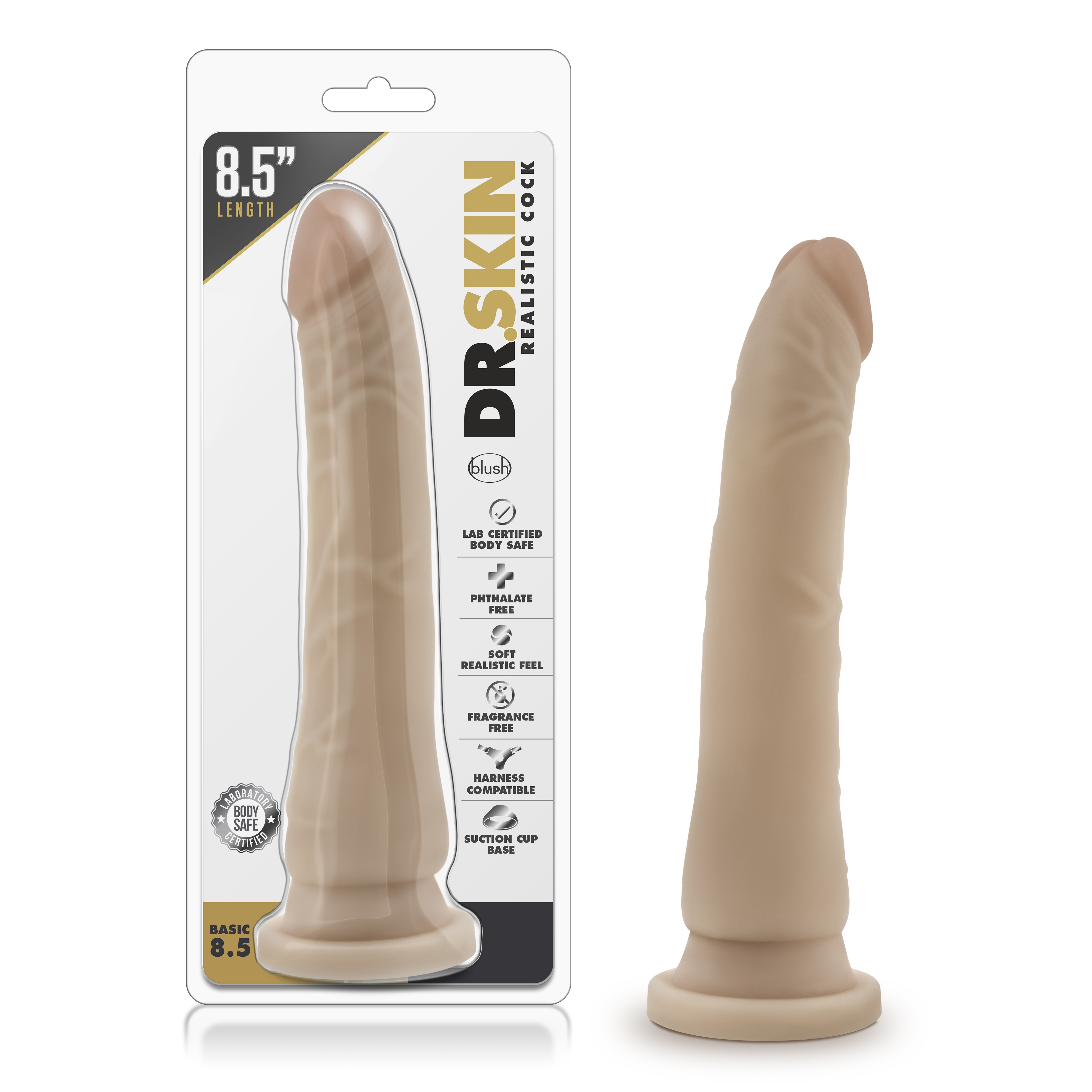 Dr. Skin - Realistic Cock - Basic 8.5 - Beige